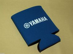 YAMAHA COOZIE BLUE WHITE FOAM NORWOOD CAN DRINK HOLDER USED MOTORCYCLE BIKE #CupsMugsHolders