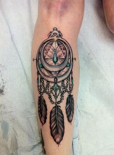Dream catcher on my shin for my mom. She was just diagnosed with stage 4 lung cancer. - Kevin Poon Scorpion Studios Houston, TX - Imgur
