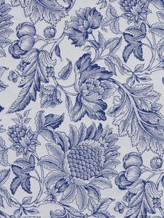 Robert Allen #fabric Mammys Garden in #Cobalt. #BosDesignMarket