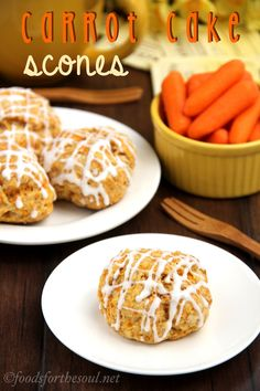Carrot Cake Scones - since they're meant for breakfast they aren't super sweet. Only about 160 cals per scone and pretty low in fat