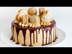 Coffee Caramel Cake with Chocolate Ganache - Tatyanas Everyday Food