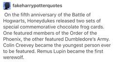 Honeydukes Harry Potter Remus Lupin Colin creevey