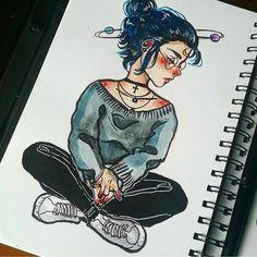 Desenho Art And Illustration, Character Illustration, Cartoon Kunst, Cartoon Art, Pretty Art, Cute Art, Cool Drawings, Drawing Sketches, Sketch Art