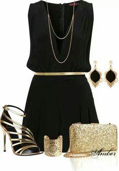 Negro y dorado una combinación elegante.