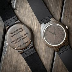 Engraved Wooden Watch for Men Anniversary Gifts for Boyfriend Gift Groomsmen Gift Personalized Wood Watch Birthday Gift for Him Custom Watch - Wooden Product Seller Thoughtful Gifts For Him, Romantic Gifts For Him, Boyfriend Anniversary Gifts, Diy Gifts For Boyfriend, Boyfriend Boyfriend, Boyfriend Birthday, Wooden Watches For Men, Mens Watches Leather, Groomsmen Gifts Unique