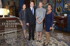 royalwatcher:  Prince Albert II, his sisters, and his wife featured in Paris Match © FRÉDÉRIC NEBINGER/Paris Match