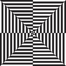 op art: art that makes use of optical illusions. popularized in the 1960s