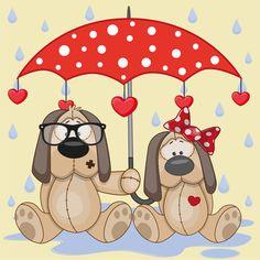 Cute animals and umbrella cartoon vector 16 Cartoon Cartoon, Cute Cartoon Animals, Cute Animals, Umbrella Cartoon, Red Umbrella, Cute Animal Videos, Cute Friends, Illustrations, Cute Illustration
