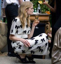 bow dress #blackandwhite