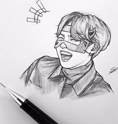 New Art Sketches Kpop Fanart, Flying Owl, Art Du Croquis, Kpop Drawings, Image Originale, Wow Art, Art Sketchbook, Bts Wallpaper, Drawing Sketches