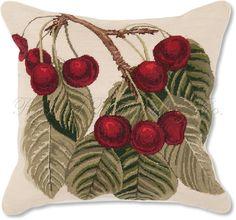 Cherries Needlepoint cushion