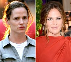 Jennifer Garner  On left: in New York City on July 21, 2010  On right: attending The Odd Life of Timothy Green premiere in Hollywood on Aug. 6, 2012