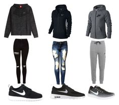 """""""Choose?!"""" by lifestyle-outfits on Polyvore featuring mode, NIKE en Topshop"""