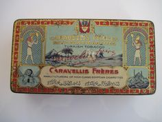 Excited to share the latest addition to my #etsy shop: Caravellis Freres Prime Egyptian cigarette tin (50) c.1910/20 http://etsy.me/2nY2osW #vintage #collectables #tobaccocollectibles