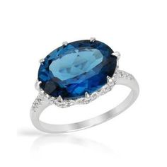 Ring with 7.67ct TW Genuine Diamonds and Topaz Crafted in White Gold | Overstock.com Shopping - The Best Deals on Gemstone Rings