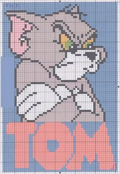 Tom and  Jerry perler bead pattern