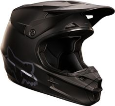 2014 Fox V1 Matte Black Motocross Helmet