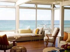 Loads of windows to show off the view - beach house style