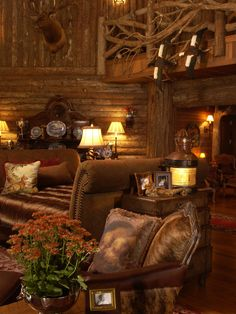 Traditional Spaces Log Cabin Chinking Design, Pictures, Remodel, Decor and Ideas - page All kinds of log homes Log Cabin Living, Home And Living, Cabin Homes, Log Homes, Cabins And Cottages, Log Cabins, Log Cabin Designs, Western Homes, Rustic Homes
