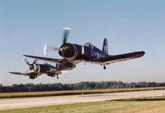 2-Corsairs...running low & wide open baby!