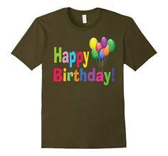 Men's Birthday Cake Party Adult Kids Boy Girl Happy Day Gift Shirt 2XL Olive
