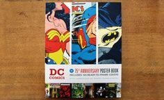 dc comics 75th anniv. poster book.
