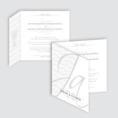 Trouwkaart Jurian en Chanoe, ontworpen door Ontwerp Studio Rottier