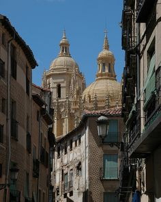 Segovia, Spain........... I had pig famously cut with the side of a plate here.  It was kinda gross