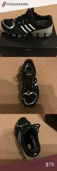 new product 53333 94c34 Adidas MicroBounce+ Oregon Blackwhitesilver adidas running shoes. Only  worn twice.