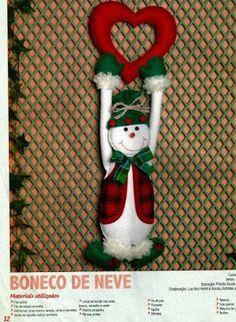 Artesanato e suas técnicas: Boneco da neve em feltro