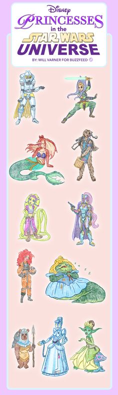 This should definitely be a thing right? | I Drew Disney Princesses Living In The Star Wars Universe