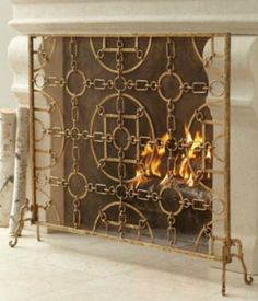Smith & Hawken™ Carson Fireplace Screen Burnished Brass : Target ...