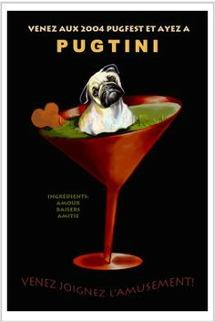 vintage pug poster   ... version. The larger version of this poster is completely sold out