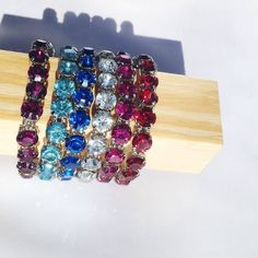 #newarrival Stretch Bling Bracelet- #stylemadeeasy just put it on and you add color to your look!! #blingbling #bracelet 6 colors but very limited quantities- only $15 comment for buying info or email me jess@avagracefashions.com
