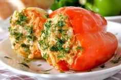 The best Stuffed Peppers recipe Polenta, Stuffed Peppers Oven, Healthy Italian Recipes, Lithuanian Recipes, How To Cook Quinoa, Vegan Dishes, Quick Meals, Healthy Cooking, Pesto