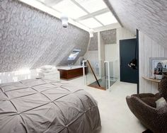 Loft bedroom - modern - bedroom - portsmouth - Walk interior design limited