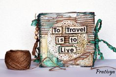 Just completed this Rustic Vintage Handmade Travel journal using lots of recycled materials, and paint mediums - What do you think??