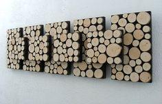 Rustic Wall Art Modern Art Wood Sculpture Tree by ModernRusticArt