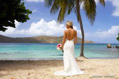 Melanie made a stunning bride at her beach wedding at Dreams Sugar Bay St Thomas! Photo Credit: CROWN IMAGES