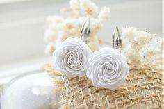 Beautiful white by Rybenka - SAShE. Stud Earrings, Handmade, Beautiful, Jewelry, Fashion, Moda, Hand Made, Jewlery, Jewerly