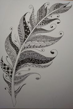 Zentangle Inspired Art - Pigma Micron pen on Strathmore Mixed Media Visual Journal paper - 9 in x 12 in.