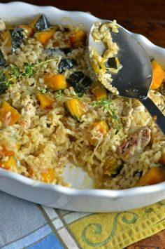 21. Baked Chicken Risotto With Kabocha Squash #greatist http://greatist.com/eat/kabocha-squash-recipes