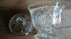Vintage-pineapple-glass-sugar-bowl-lid-Crown-Glass-Australia-c1940s-lovely