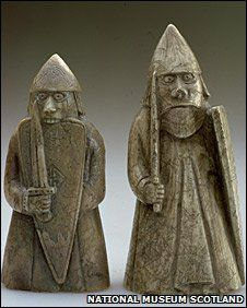 lewis chess men-Believed to be Scandinavian in origin, the chessmen were probably made in Trondheim in Norway during the late 12th and early 13th centuries.