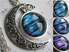 Lorentz   Filigree Necklace  Crescent Moon  by DarkMatterJewelry, $29.00