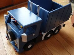 Handmade Wooden Toy Truck, From the Super-big Super Mack Truck Set, Dump Truck, These are large toys weighing about 7 pounds each. #odinstoyfactoy #tallahassee #florida #handmade #handcrafted #woodentoy #toys #trucks #dumptruck