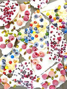 Frozen Yogurt Bark 3 Ways from Weelicious.com