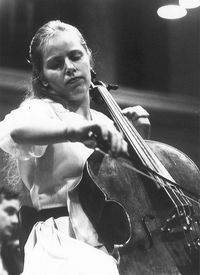 Jacqueline Du Pre during a rehearsal at the Herkulessaal in Munich in ...