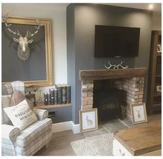 Cottage Living Rooms, Living Room Grey, Home Living Room, Living Room Designs, Living Room Decor, Cozy Living, Alcove Ideas Living Room, Living Area, Bedroom Decor