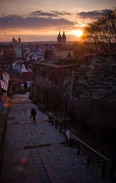 Eger - my beloved stairs between Leányka Ut. and the city center. Wonderful Places, Beautiful Places, Hungary Travel, Wine Tourism, Central Europe, Budapest Hungary, Beautiful Buildings, Eastern Europe, Places To See